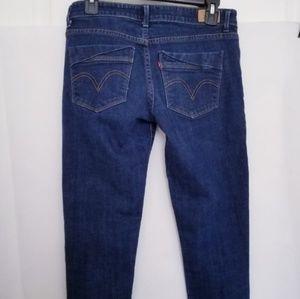 Levi size 28 jeans skinny crop stretchy dark wash